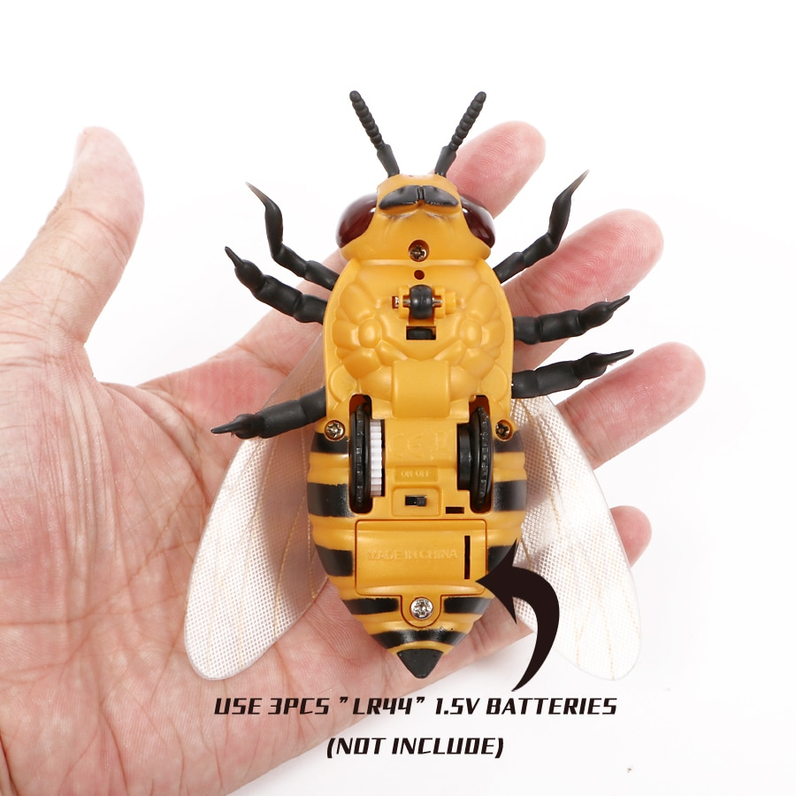 Infrared RC insects Honeybee Model Toy  Simulation IR RC insects bee honeybee electronic pet robot model Prank toy joke toys enlarge