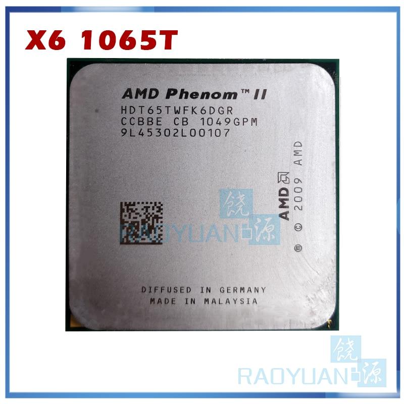Amd phenom x6 1065 t X6-1065T 2.9 ghz processador de cpu de seis núcleos hdt65twfk6dgr 95 w soquete am3 938pin