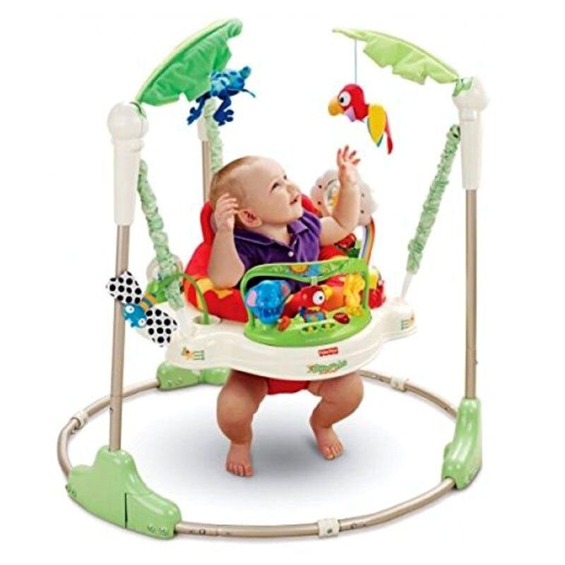 Multifuncional eléctrico bebé salto caminante cuna bosque tropical bebé columpio mecedora de cuerpo de la suerte niño columpio 3 M ~ 2 Y