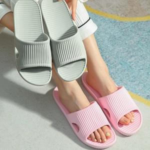 Indoor Bathroom Lovers Slippers Comfortable EVA Lightweight Floor Flat Men Shoes Open-toe House Bath Non-slip Women Slides