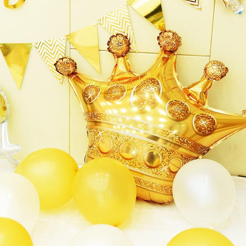 Grands ballons en forme de couronne en aluminium, 39 pouces, décorations de fête prénatale princesse Prince, pour garçon et fille, pour premier anniversaire et adultes
