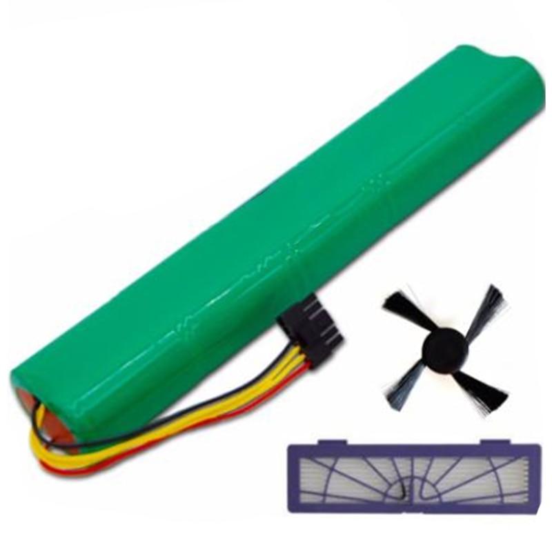 AD-3Pcs/Lot Hepa Filter+Side Brush+Battery 4500Mah 12V Ni-Mh Cleaner Battery for Neato Botvac 70E 75 80 85 D75 D85 Vacuum Cleane