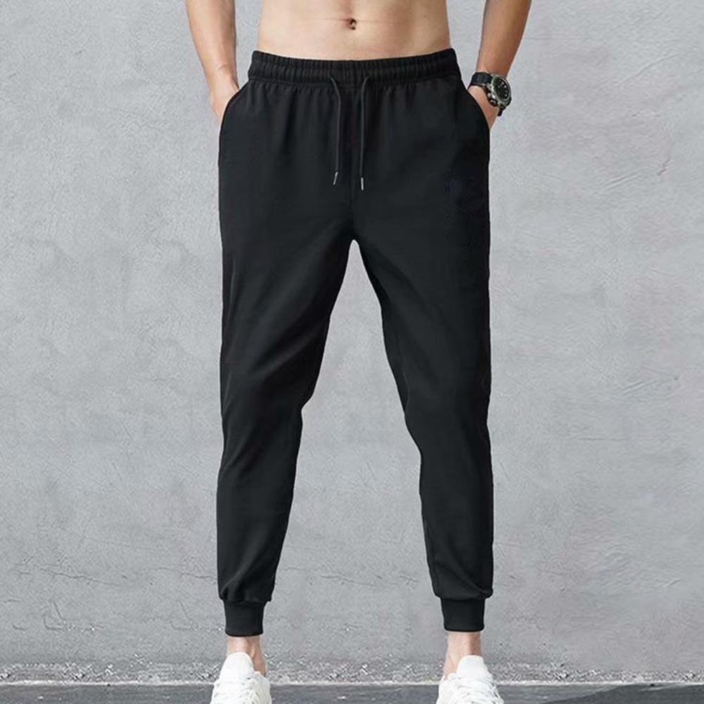 Брюки мужские с регулируемой резинкой на щиколотке, облегающие спортивные штаны, тренировочный костюм, спортивная одежда, лето