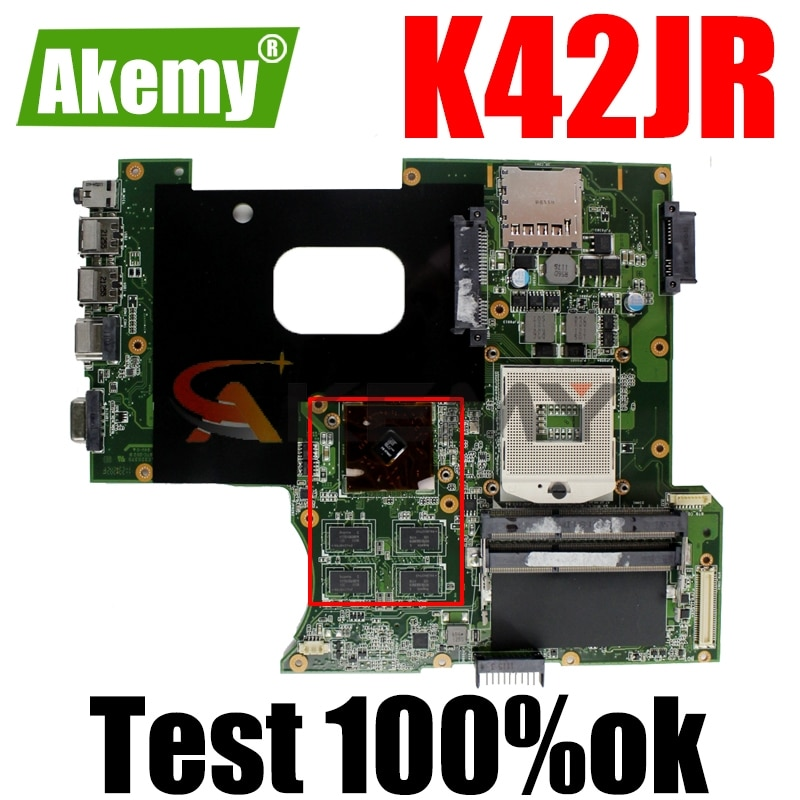 Akemy ل For Asus K42JR اللوحة المحمول REV 2.0 HM55 DDR3 ل For Asus k42j A40J K42JZ K42JB K42JY محمول ماينبوا 100% اختبارها سليمة