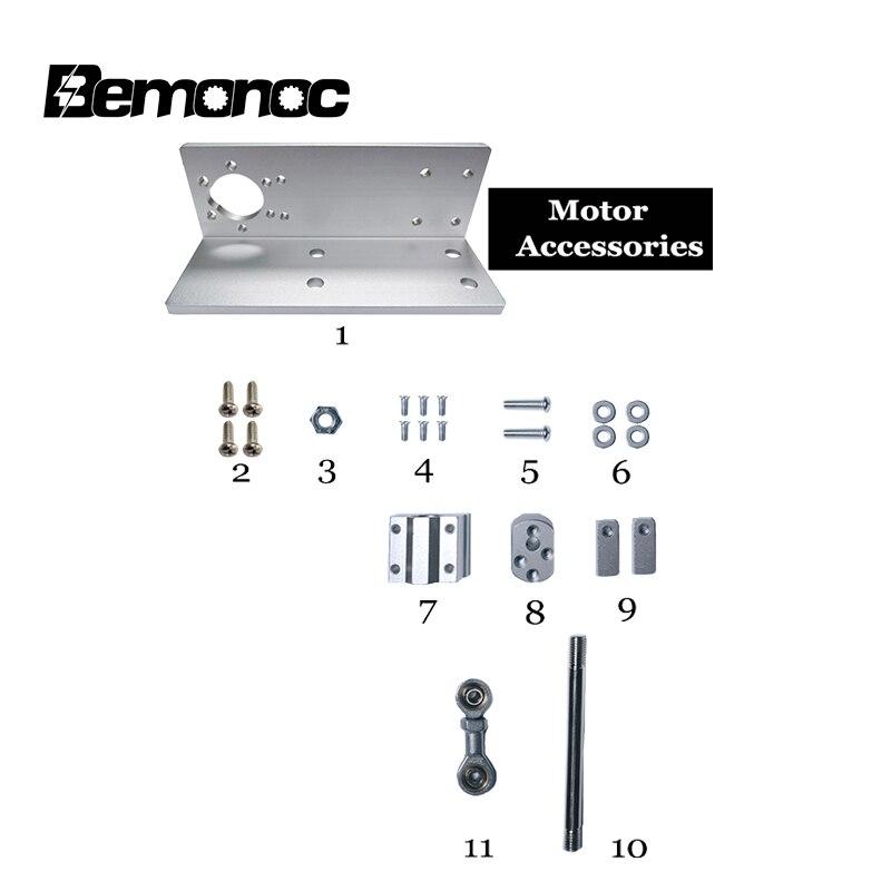 Accesorios de montaje de actuador lineal bemooc DC, diseño DIY, piezas de montaje de actuador lineal de ciclo reciprocante sin Motor