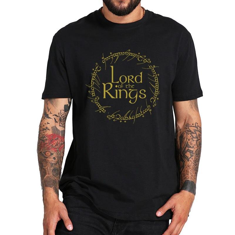 El Señor de los anillos camiseta de un anillo a la regla camiseta de alta calidad de manga corta de verano Premium Tee Tops