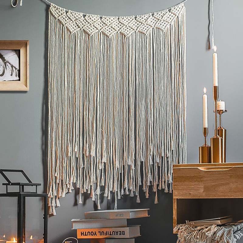 Макраме кисточка занавеска домашняя настенная гобелен в стиле бохо ручной работы богемное плетение Свадебная гостиная спальня декоративн...