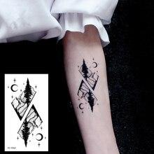 1PCS Whale Sexy Women Girl Temporary Tattoo Sticker Black Fox Roses Design Flower Arm Body Art Big Large Fake Tattoo Sticker OP2