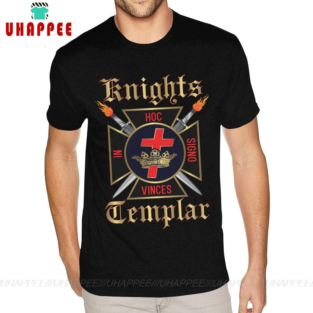 Camisas elegantes do homem do tamanho grande do t dos cavaleiros templar camisas em branco