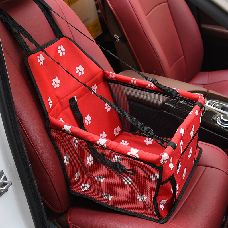 Bolsa de viaje para perro, bolsa de asiento, hamaca plegable, cesta impermeable, bolsas colgantes de malla de seguridad para perros, bolsa de asiento, cesta