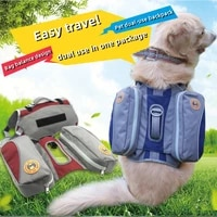 pet dog saddlebags pack adjustable luggage pack hound travel camping for medium large dogs hiking backpack pet supplies