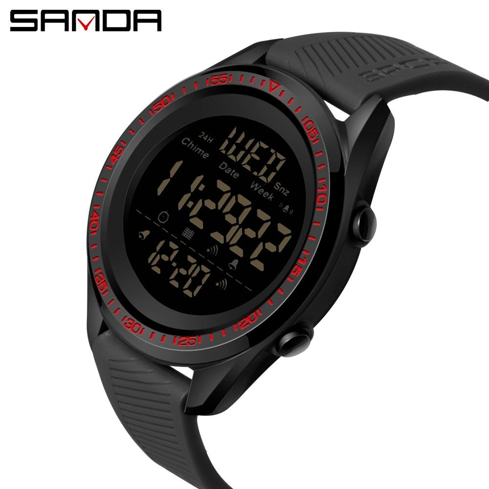 Esportes ao ar Multifunções à Prova Sanda Marca Superior Livre Relógios Masculinos Dmultifunction Água Digital Masculino Relógio Cronógrafo 6013 2021