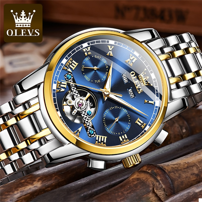 OLEVS Mens Watches Fashion Top Brand Luxury Business Automatic Mechanical Watch Men Casual Waterproof Watch Relogio Masculino enlarge