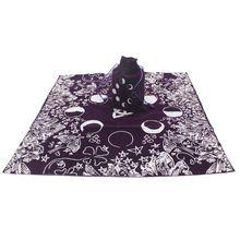 Aksamitny Tarot obrus z torbą czarownica wróżbiarstwo fazy księżyca kochanka ołtarz tkaniny Y4UB