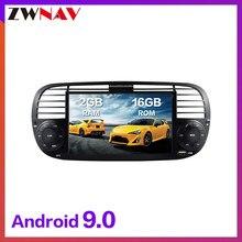 Touch Screen Android 9.0 Auto Dvd-speler Head Unit Voor Fiat 500 2007-2014 Auto Auto Multimedia Gps Navi radio Stereo Type Recorder