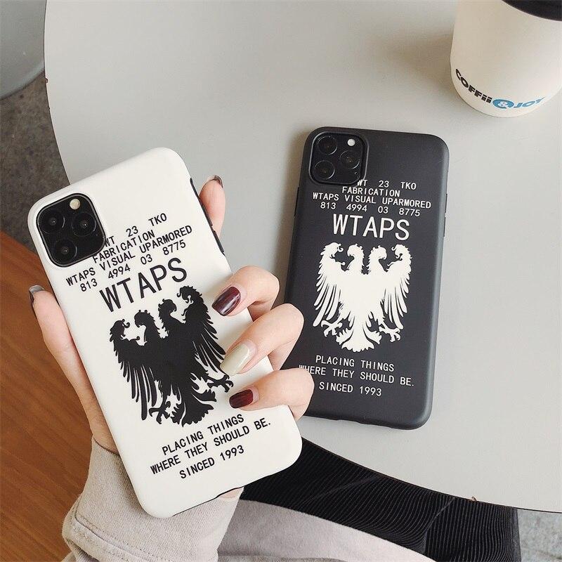 Lujosa funda de silicona suave de moda japonesa Wtaps para iPhone 11 Pro 7X7plus 6 6S plus 8 8plus X XS Max Xr a prueba de golpes Fundas