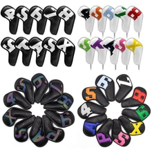 Gradients Number Golf Iron Head Covers Iron Headovers Wedges Covers 4-9 ASPX 10pcs Golf fan supplies