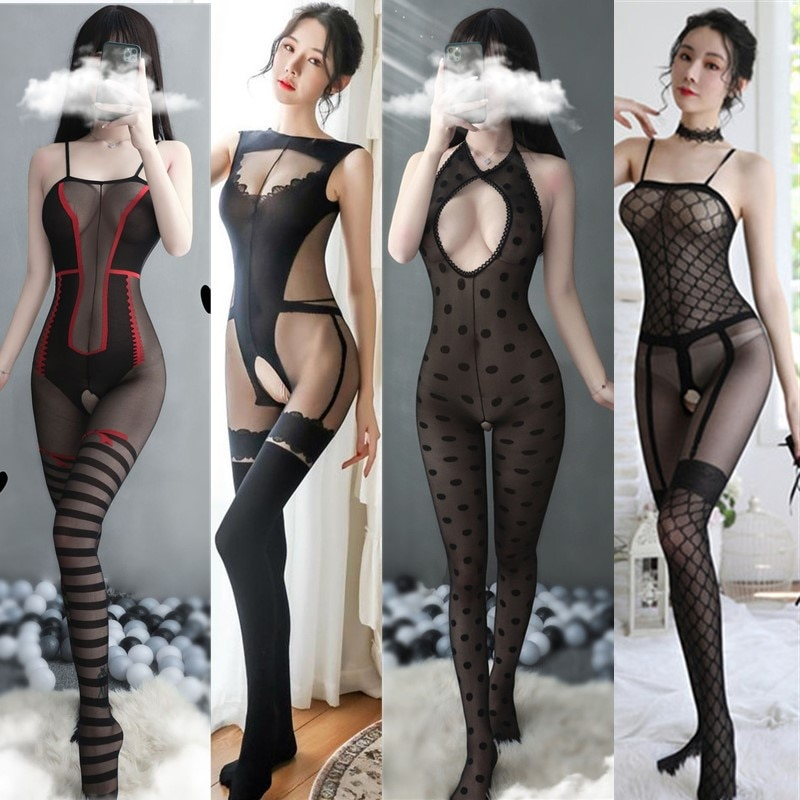 Sexy Tights sexy lingerie hose hot Women's Hosiery black open crotch intimate Underwear teddy sexy costumes porno hose bodysuit