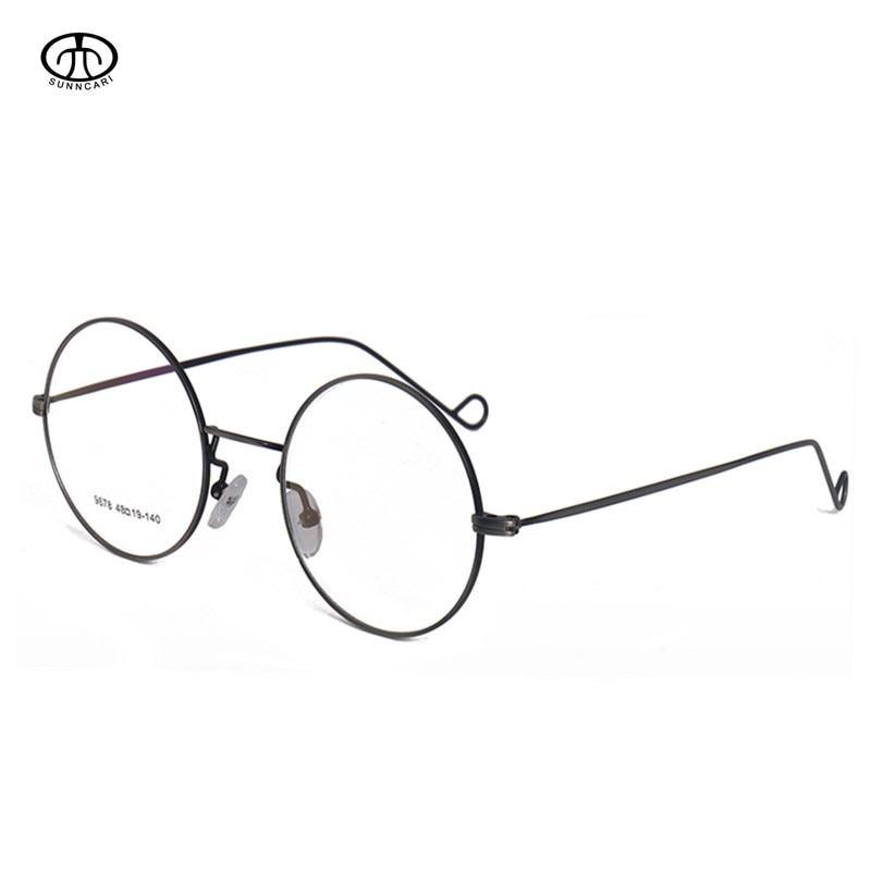 1,56 redondo de Metal gafas graduadas con montura hombres mujeres óptico miopía gafas de aleación de sólido corto-vista terminado gafas