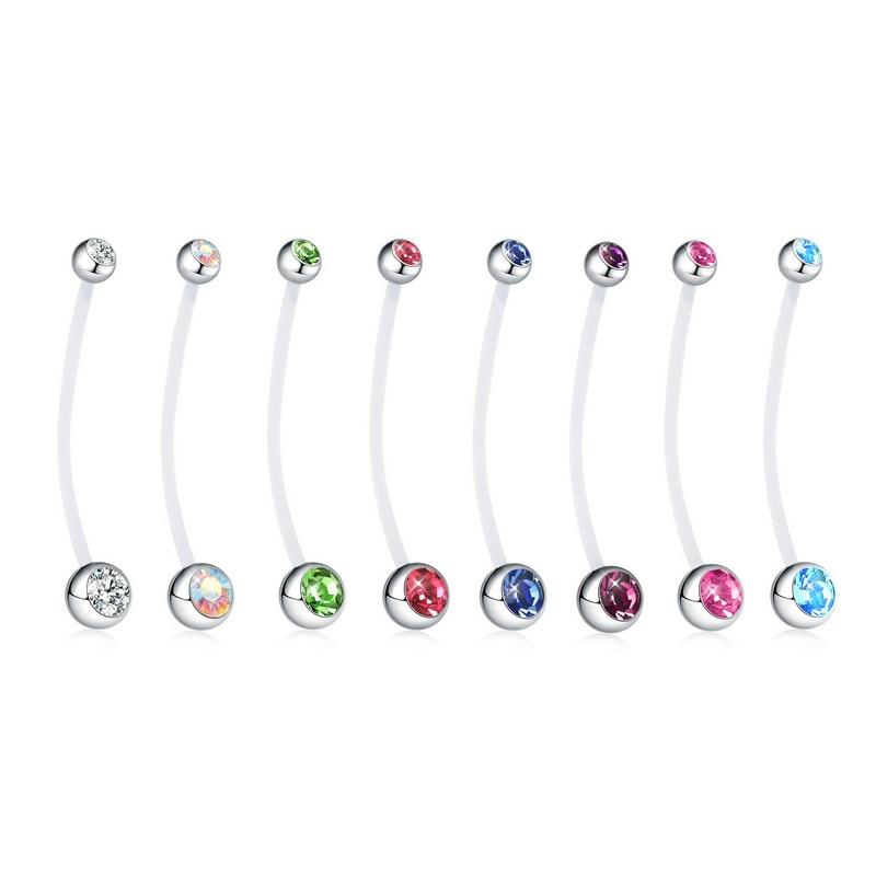 1PC Piercing ombligo encanto embarazada anillos del vientre joyería Piercing del cuerpo cuelgan ombligo anillos para las mujeres Accesorios