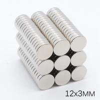 50pcs 12x3mm n35 super powerful disc ndfeb rare earth magnet 12 mm 3 mm permanent magnet crafts 12x 3 mm