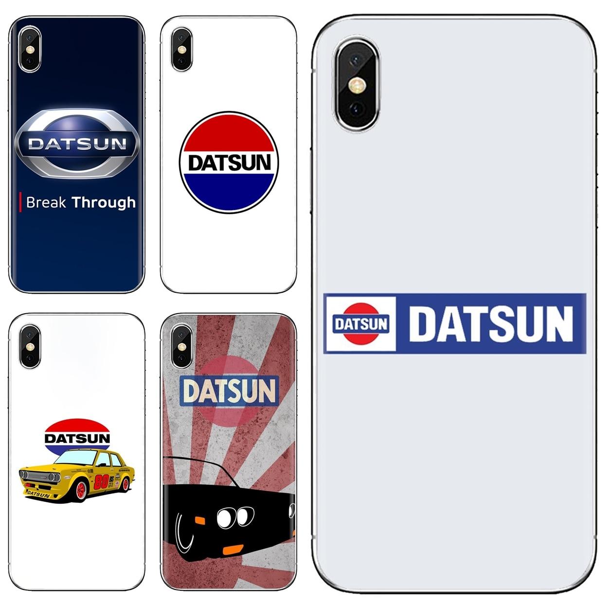 Datsun Logo Silicone Phone Bag Case For Samsung Galaxy Note 3 4 5 8 9 S3 S4 S5 Mini S6 S7 Edge S8 S9