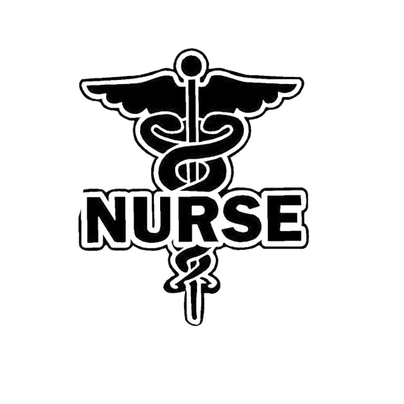 WHITE Nurse Hospital Personality Car-styling Car Sticker Sunscreen Waterproof Decal Auto Accessories Vinyl,16cm*13cm 420 sticker decal self adhesive vinyl body decoration waterproof personality accessories car