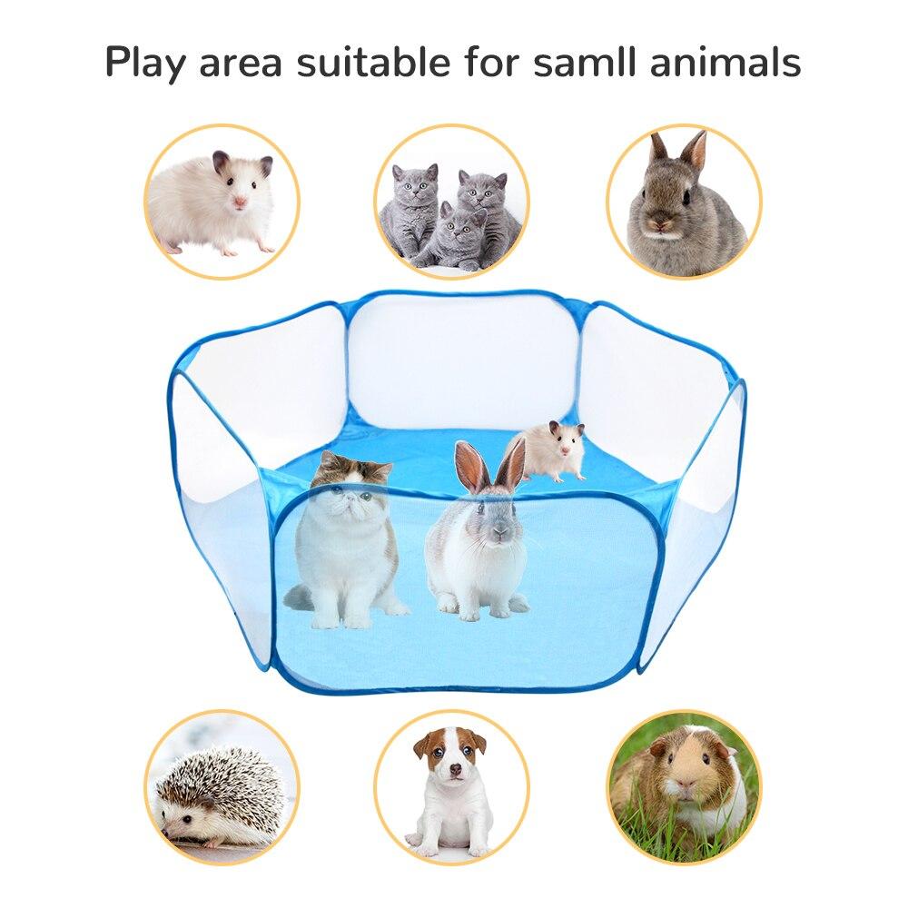 Portátil pequeno animal de estimação gaiola tenda cercadinho respirável pequenos animais dobrável cerca para hamster hedgehog filhote de cachorro gato coelho cobaia novo