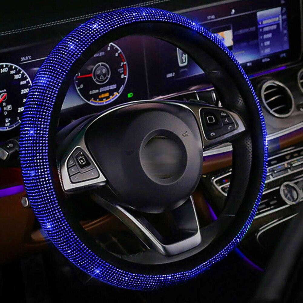 Универсальный Автомобильный руль 14,5-15 \ черный плюшевый кристалл