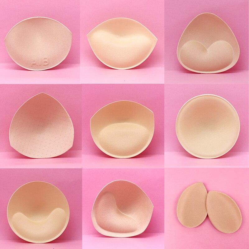 Sutiã acolchoado para peito feminino, 2 peças 1 par de sutiã acolchoado para maiô e push up acessórios íntimos