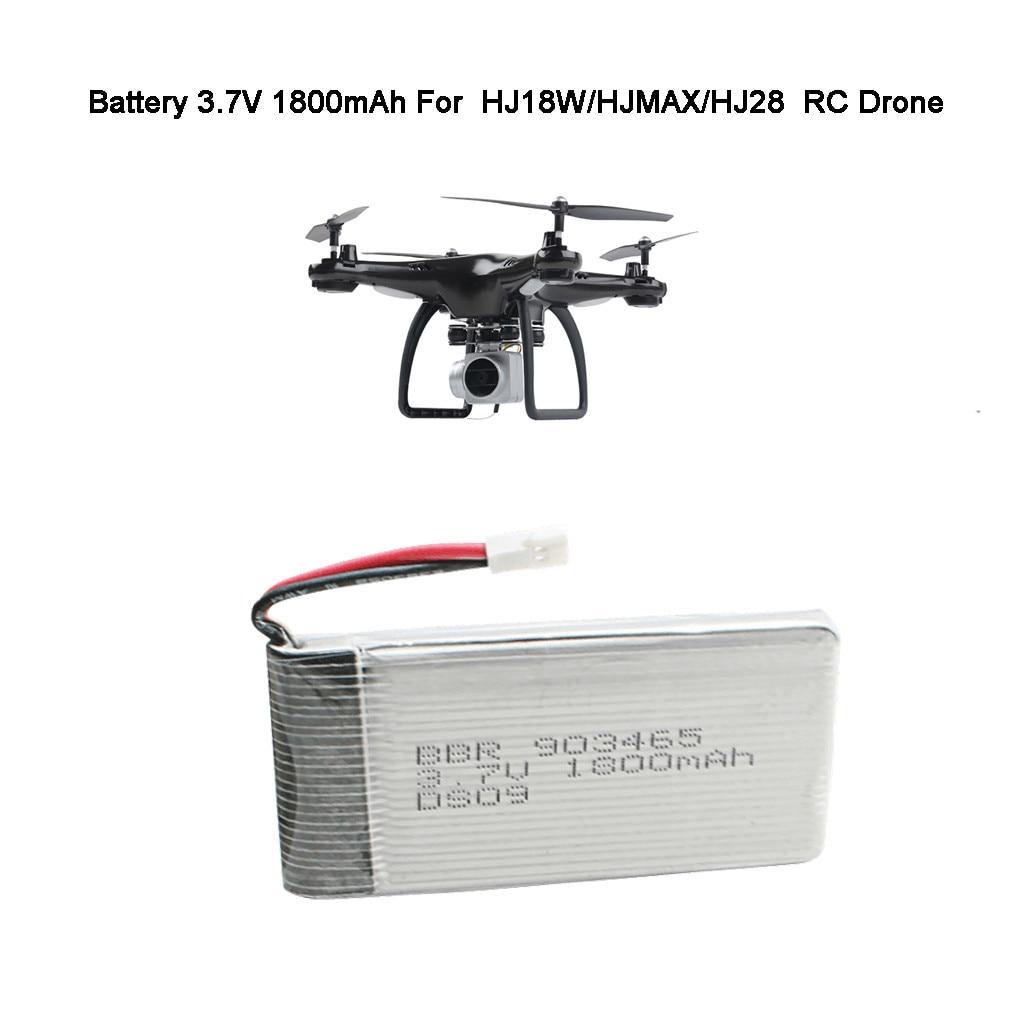 Actualización de la batería li-po de vuelo de respaldo 3,7 V 1800mAh para HJ18W/HJMAX/HJ28 RC Drone accesorios piezas de control remoto