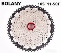 bicycle freewheel bolany 10speed 11 40 42 46 50t flywheel 20 30s cassette sprocket for m6000 m610 7075aluminum alloy flywheel