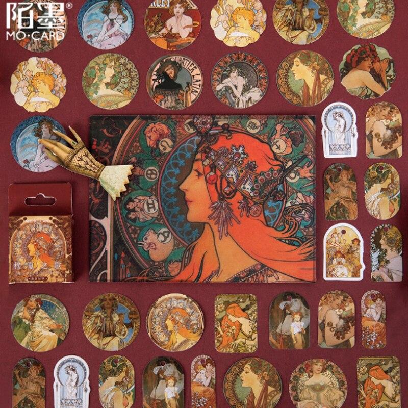 46 unids/lote creativo Retro aristocrático mujer pegatinas Retro Decoración de diario libro de recortes para personalizar álbumes de fotografías Stikers Boulet diario pegatinas