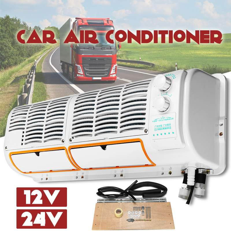 12V/24V Wall-mounted Car Air Conditioner Air Dehumidifier Purifier Air Cooling Fan Conditioning Cool