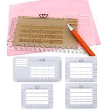 4 Pcs Notebook Multi-Gebruik Envelop Dagelijks Schrijven Praktijk Stencil Set Sjablonen Heersers Adres Gids Craft Ansichtkaarten
