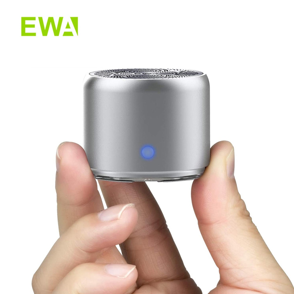 EWA Mini متحدث لاسلكي يعمل بالبلوتوث العمود المعدني باس صندوق IPX7 مقاوم للماء مكبر الصوت سماعات محمولة مع حافظة سفر A106Pro