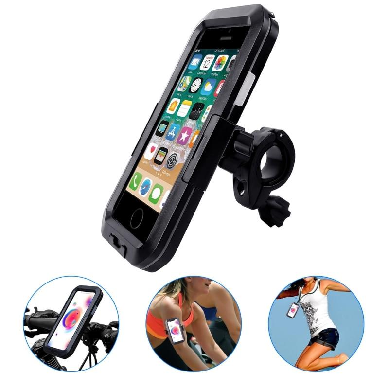 Soporte de teléfono impermeable Universal para bicicleta y motocicleta soporte de teléfono soporte de montura para iPhone 11/11 Pro/11 Pro Max para Samsung
