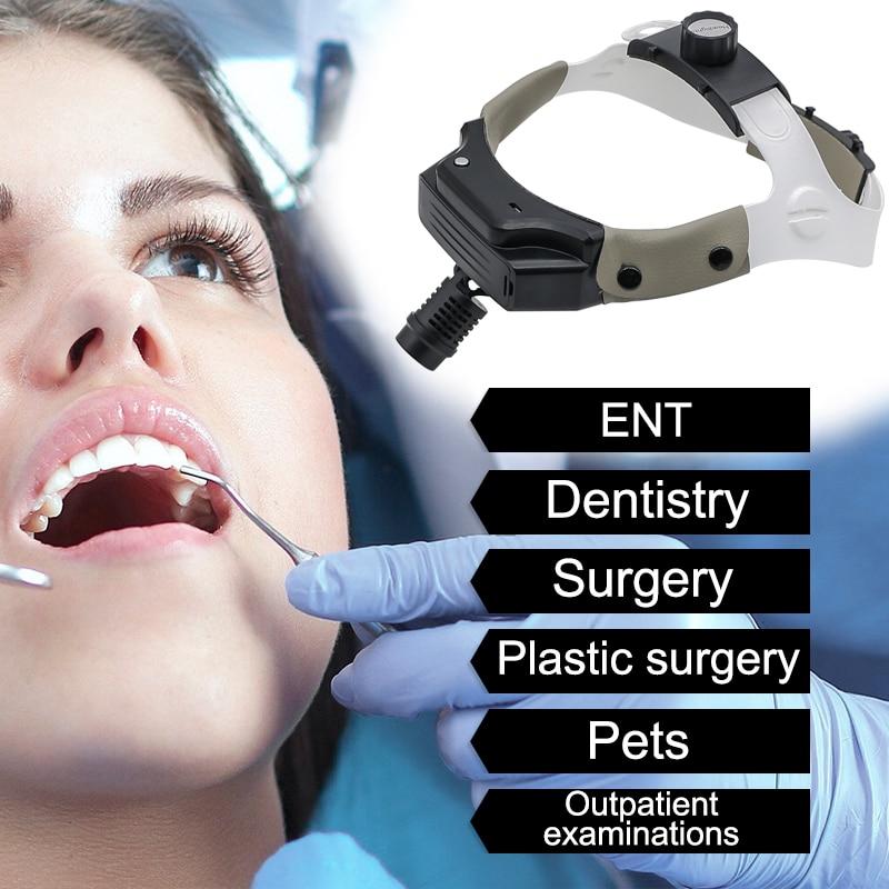 3W Dental Medical Headlight LED Surgical Headlamp USB Rechargeable High Intensity Lamp Dentistry Operation Headband Helmet Lamp enlarge