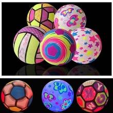 Kids 22cm Newest Luminous Bouncy Ball Toys Novelty light Inflatable Ball Football Outdoor Sports Gam