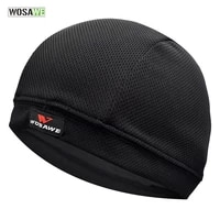 wosawe quick dry cycling cap breathable gear bicycle motorcycle helmet sweat inner cap summer racing hat headwear skull beanie
