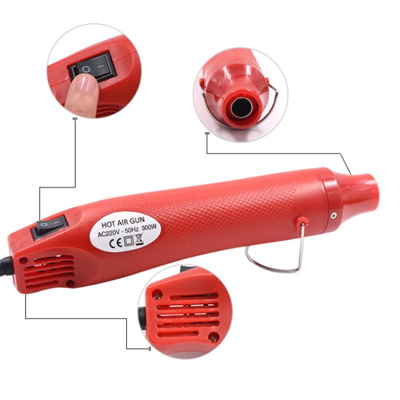 Car Vinyl Film Wrapping Tools 220V 300W Electric Hot Air Heat Gun + Cutter Knife + Scraper Squeegee