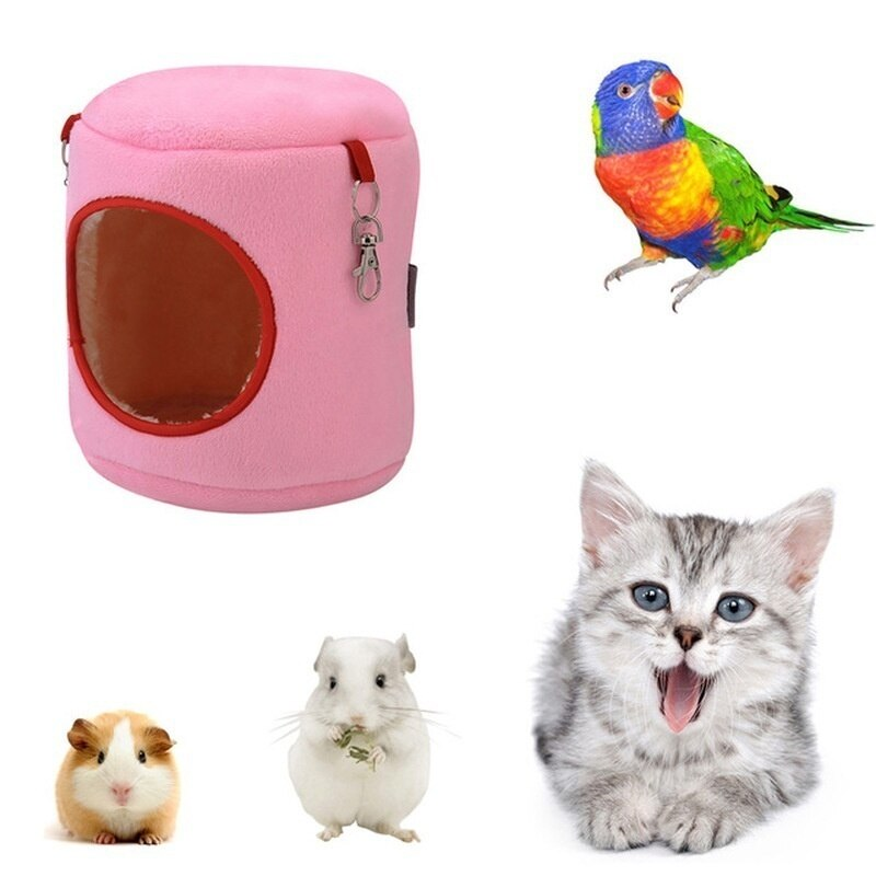 Jaula para hámster, pájaro, casa de conejo, bonitas camas colgantes suaves, accesorios...