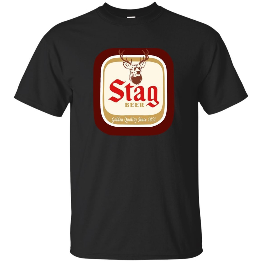 Camiseta negra azul marino Stag Beer, Camiseta de calidad dorada desde 1951, Top S-3Xl, camiseta de diseño divertido