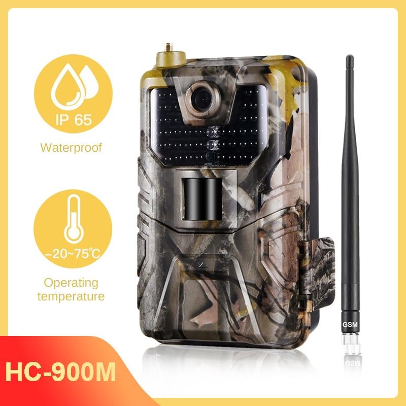 HC900M 20Mp 1080P الحياة البرية كاميرا تعقب صور الفخاخ ليلة الإصدار 2G Sms Mms Smtp البريد الإلكتروني الخلوية الصيد كاميرات الحياة البرية الكشفية