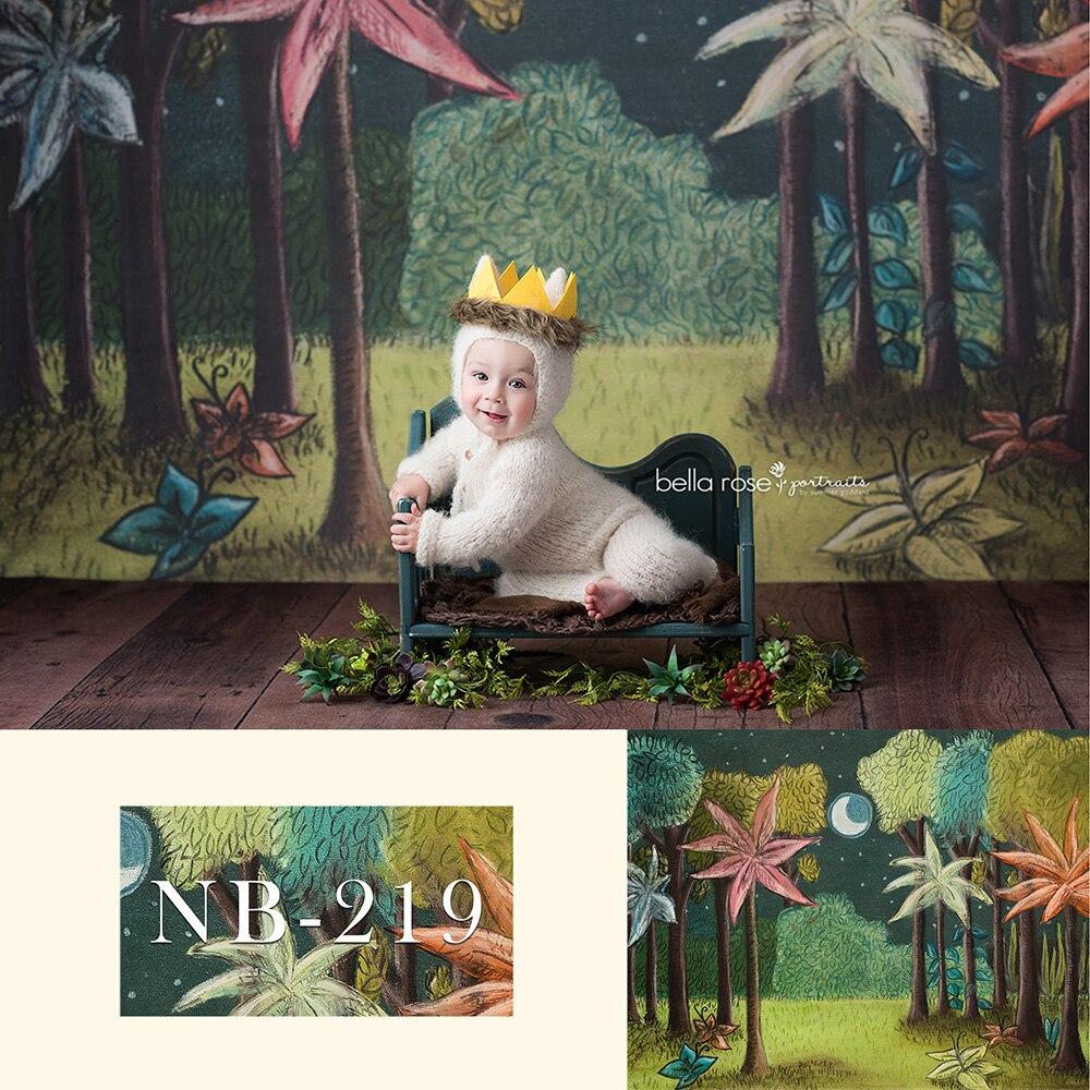 Fondo de fotografía de recién nacido salvaje una fiesta de cumpleaños decoración Banner con pasteles de bebé Smash FONDO PARA sesión fotográfica