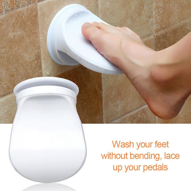 Bathroom Shower Foot Rest Shaving Leg Step Aid Grip Holder Pedal Step Suction Cup Non Slip Foot Pedal Wash Feet Bathroom Tool