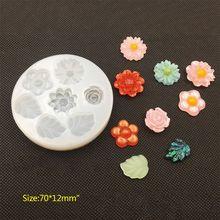 Molde de silicona DIY joyería de resina epoxi de cristal Decoración de Pastel moldes para colgantes de panadería postre helado flor Animal arte