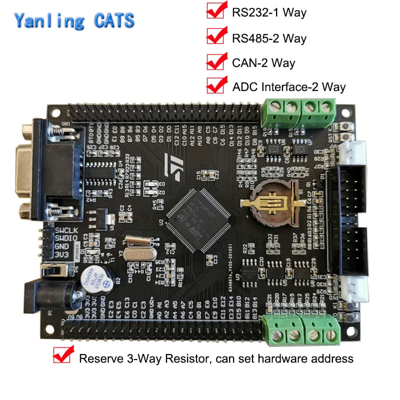 STM32F4 Discovery Industrial Control Development Board STM32F407VET6 429VE ARMCortex M4 Internet of Things UART RS232 485 CAN недорого