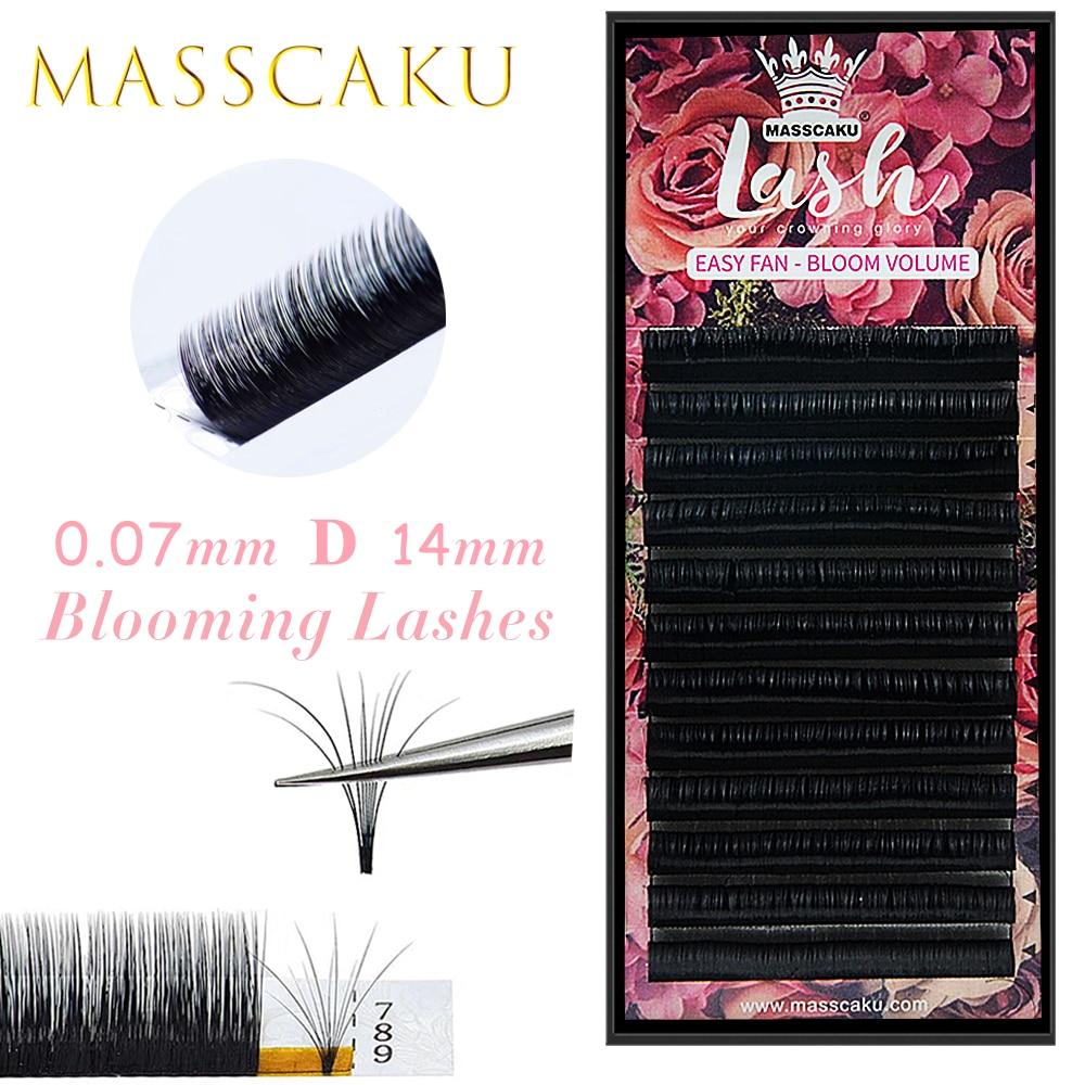 MASSCAKU-pestañas postizas de gran volumen, Mega extensiones, floración automática, rápida, entrega rápida