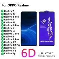 rinbo for oppo realme x2 xt c2 q 6 pro glass screen protector realmi 5 5i 7 6i 6 7i 8 pro protective full tempered film realme6i
